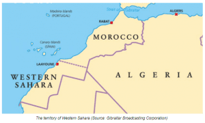 The territory of Western Sahara (Source: Gibraltar Broadcasting Corporation)