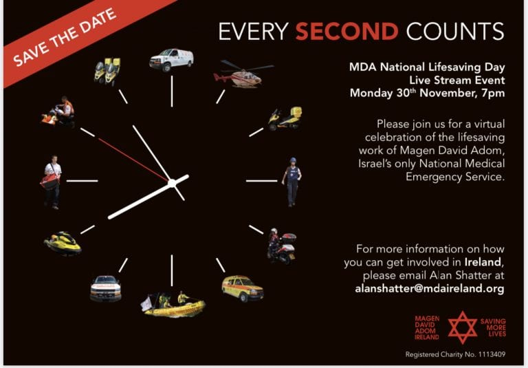 Ireland Israel Alliance Events | Magen David Adom - National Lifesaving Day – Livestream Event – Monday 30 November 7pm