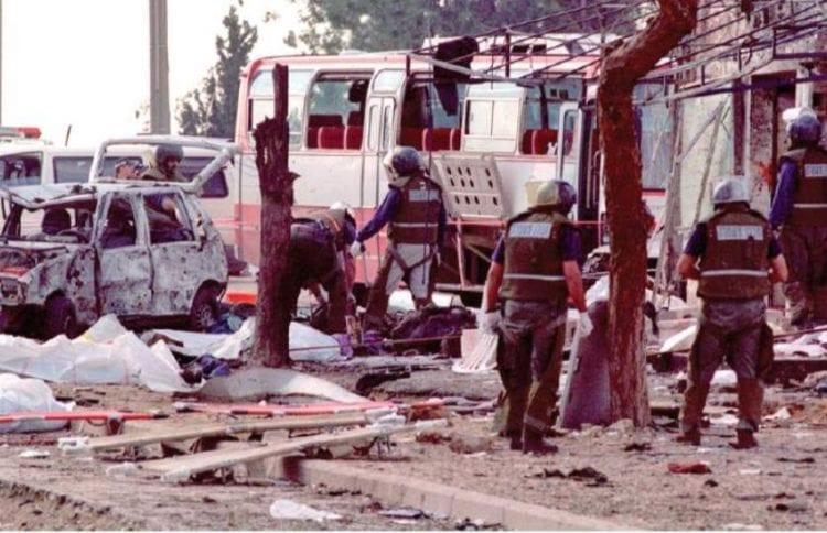 Scene of Beit Lid massacre (Israel Hayom)