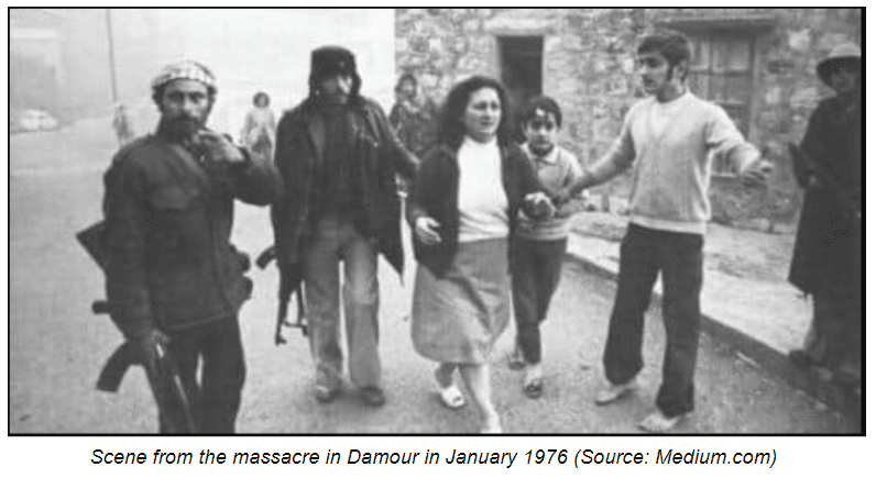 Scene from the massacre in Damour in January 1976 (Source: Medium.com)