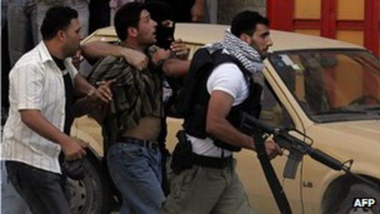 Suspected Hamas member arrested by Fatah militants during Fatah-Hamas war in 2007