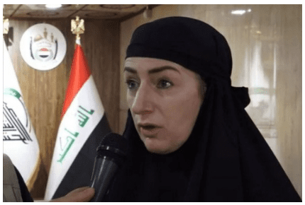 Clare Daly during last month's visit to to Iraq (Source: The Journal)