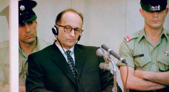 Adolf Eichmann during his trial in Jerusalem