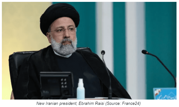 New Iranian president, Ebrahim Raisi (Source: France24)
