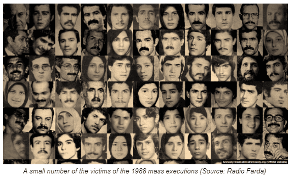 A small number of the victims of the 1988 mass executions (Source: Radio Farda)