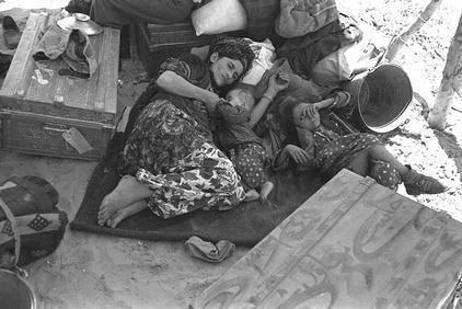 Displaced Iraqi Jewish refugees, 1951 (Times of Israel)