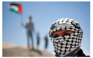 Palestinian wearing a keffiyeh on Nakba Day (Photo:Ynetnews/Reuters)