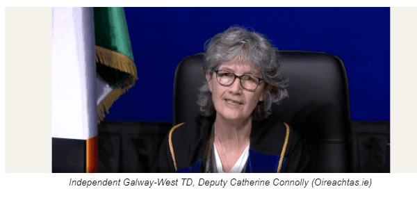 Independent Galway-West TD, Deputy Catherine Connolly (Oireachtas.ie)